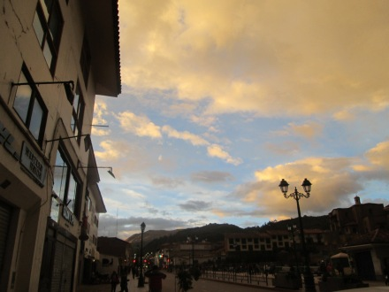 Cusco's beautiful skyline after a short spell of rain