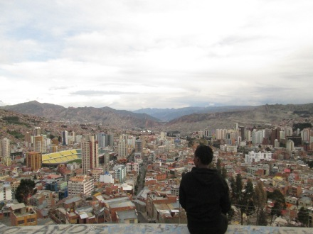 The city of La Paz from Mirador Killi Killi